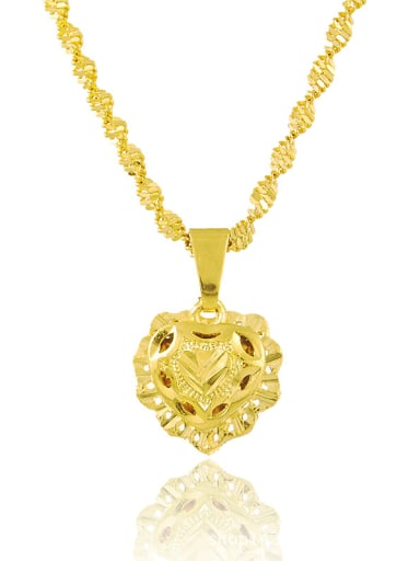 Women Creative Heart Shaped 24K Gold Plated Necklace
