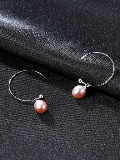Sterling silver freshwater pearls minimalist earrings