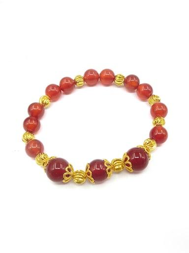 Women Delicate Red Stone Bracelet