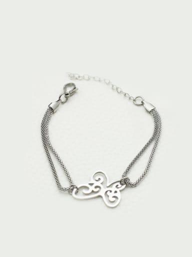 Hollow Butterfly Stainless Steel Bracelet