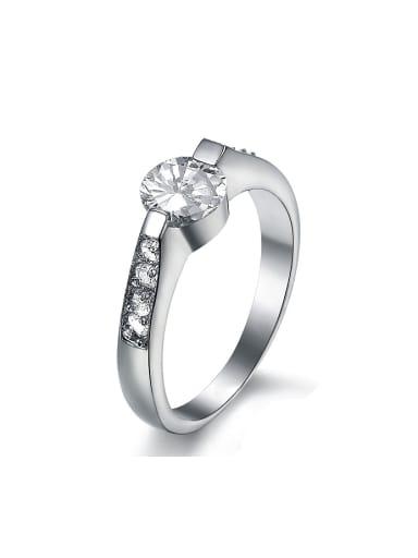 Fashion Cubic Rhinestones Titanium Ring