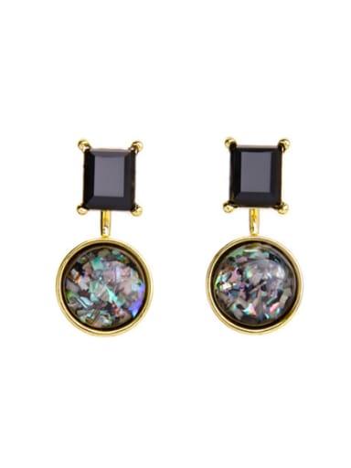 Fashion Colorful Artificial Gemstones Geometric Detachable drop earring