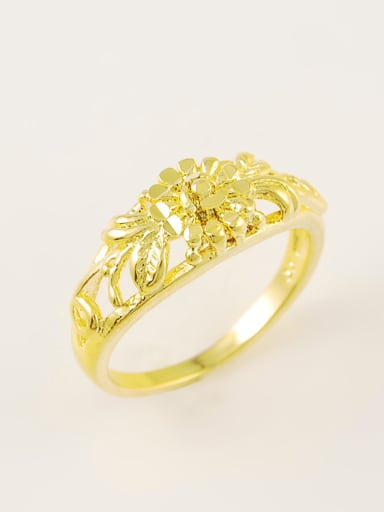 Fashion Hollow Flower Shaped Gold Plated Ring