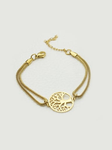 Tree Shaped Double Lines Women Bracelet