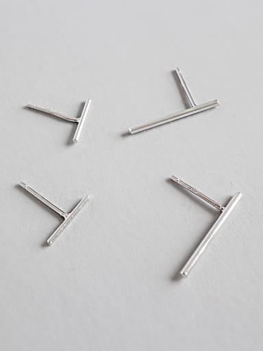 Sterling Silver minimalist geometric studs earring