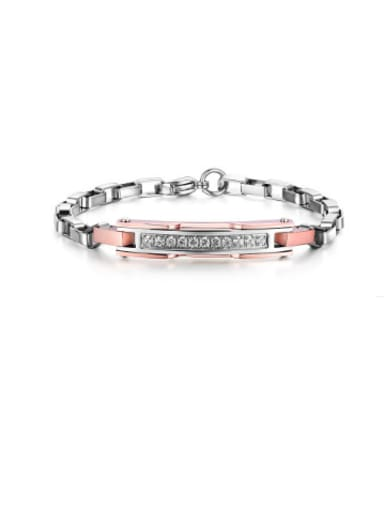 The New European Stainless Steel Titanium Diamond Couple Bracelet
