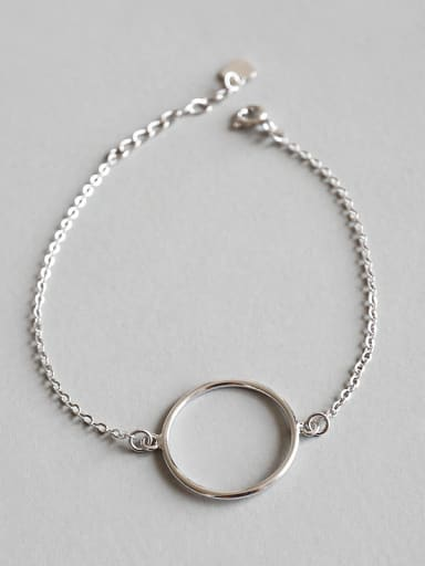 925 Sterling Silver With Platinum Plated Fashion Round Bracelets