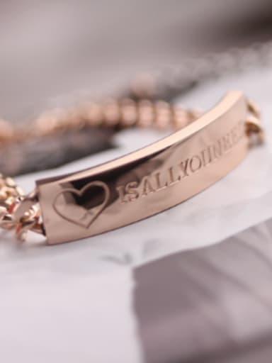 Letters Engraved Lover Titanium Bracelet