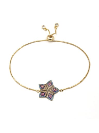 Star-shape Accessories Gold Plated Women Bracelet