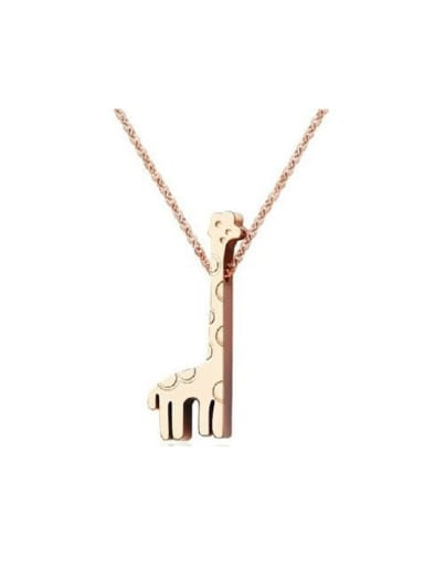 Rose Gold Giraffe Lovely Clavicle Necklace
