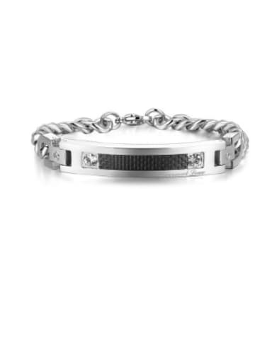 Titanium Plated Diamond Hypoallergenic Couple Bracelet