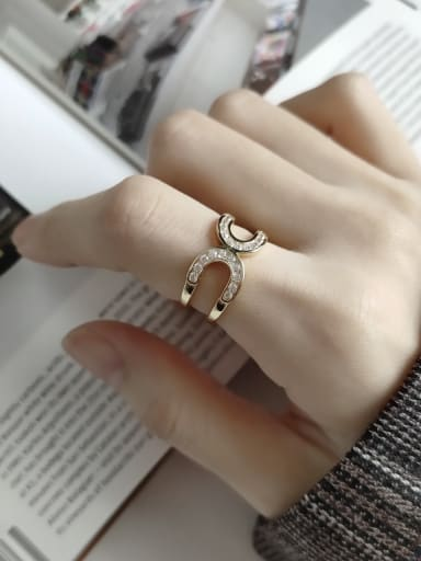 925 Sterling Silver With Gold Plated Simplistic Irregular Midi Rings