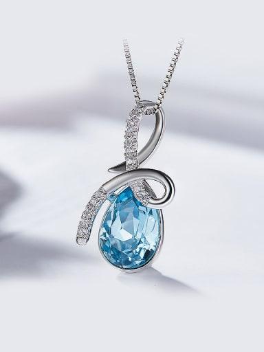 Blue Swarovski Crystal Pendant