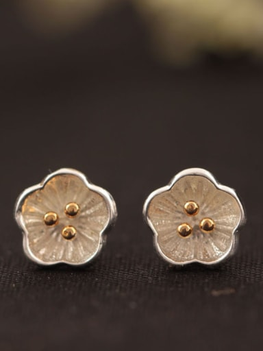 Lovely Plum Blossom Stud Earrings