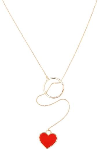 Temperament Elegant Love Pendant Long Sweater Necklace