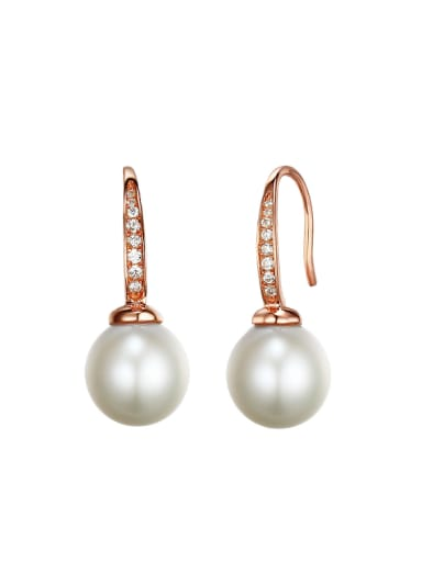 Freshwater Pearl Rose Gold Plated drop earring