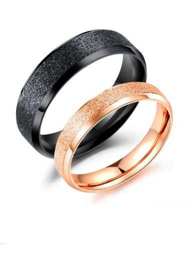 Stainless Steel With Rose Gold Plated Fashion dull polish Round Rings