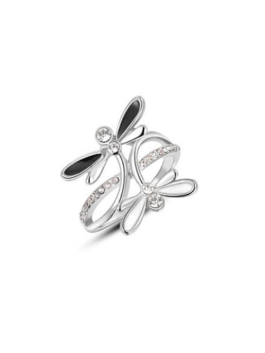 Lovely Dragonfly Shaped Austria Crystal Ring