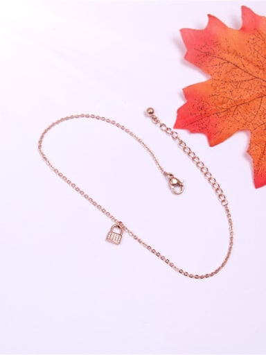 Lock Shaped Accessories Rhinestones Anklet