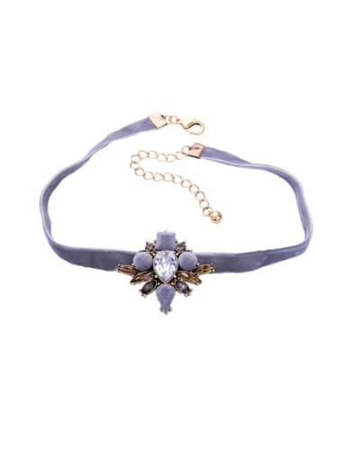 Elegant Flower Accessories Rhinestones Women Fashion Choker