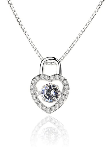 CZ Heart Smart Dancing Ladies Pendant