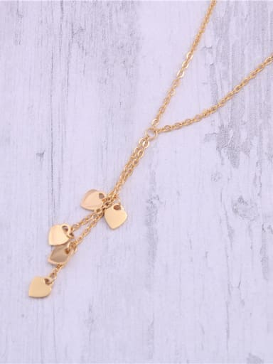 Titanium With Gold Plated Simplistic Heart Necklaces