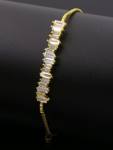 Rectangle Zircon Stretch Bracelet