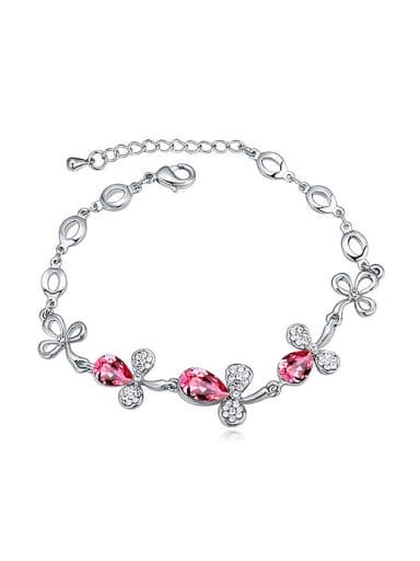Fashion Swarovski Crystals Flowers Alloy Bracelet