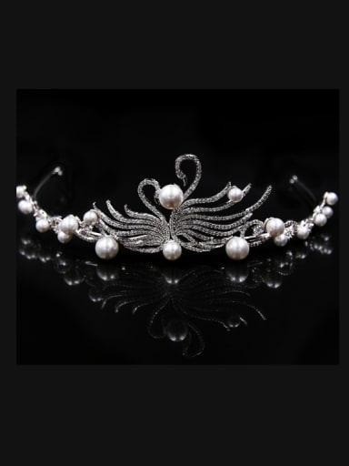 Artificial Pearls Women Zircons Elegant Fashion Hair Accessories