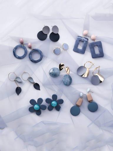 Alloy With Resin  Fashion Mini  Geometric Earrings