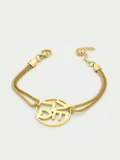 Gold Plated Lovers Fashion Bracelet