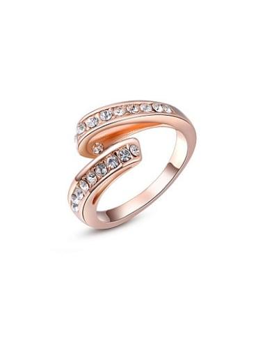 High-grade Ribbon Shaped Austria Crystal Ring