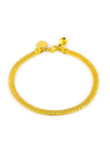 Exquisite Gold Plated Geometric Shaped Copper Bracelet