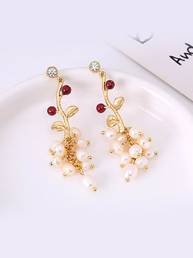 All-match Fruit Shaped Artificial Pearl Earrings