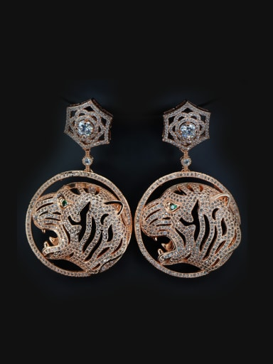 Plating Copper Leopard drop earring