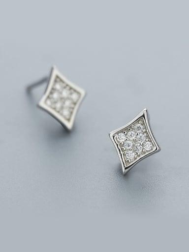925 Silver Diamond Shaped Earrings