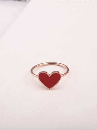 Sweet Heart-shaped Titanium Ring