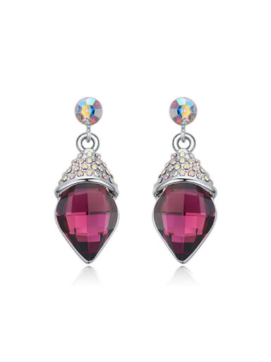 Simple Rhombus Swarovski Crystal-accented Alloy Stud Earrings
