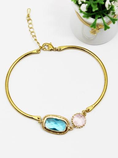 Adjustable Length Square Shaped Glass Bracelet