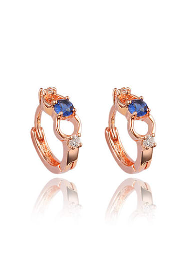 Temperament Rose Gold Plated Geometric Shaped Clip Earrings