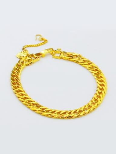 Unisex High Quality 24K Gold Plated Geometric Bracelet