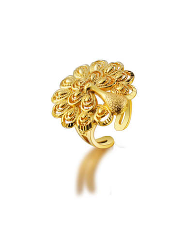 Copper Alloy 24K Gold Plated Classical style Peacock Ring