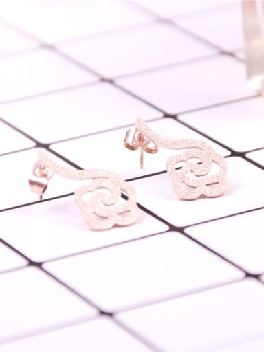 Matt Cloud Shaped Stud Earrings