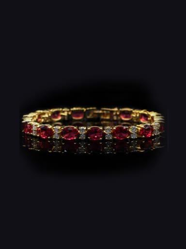 Western Style Zircons Copper Bracelet