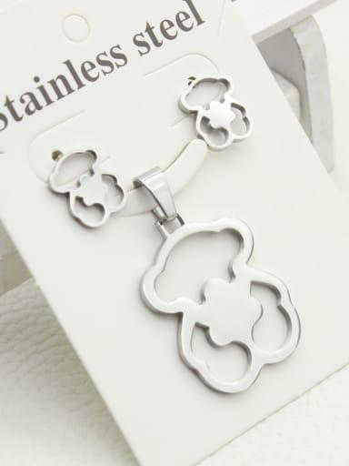 Lovely Bears Earrings Pendant Set