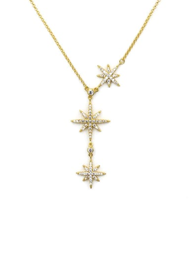 Gold Plated Micro Pave Zircons Exquisite Women Necklace