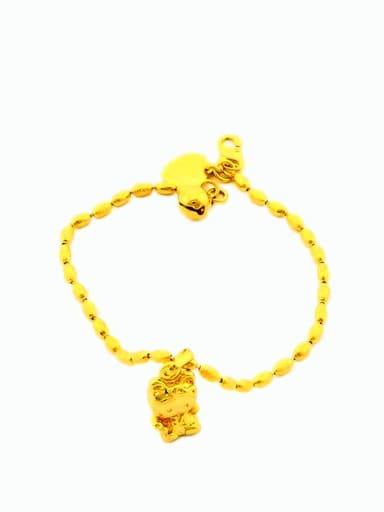 Lovely Cartoon Cat Shaped 24K Gold Plated Bracelet