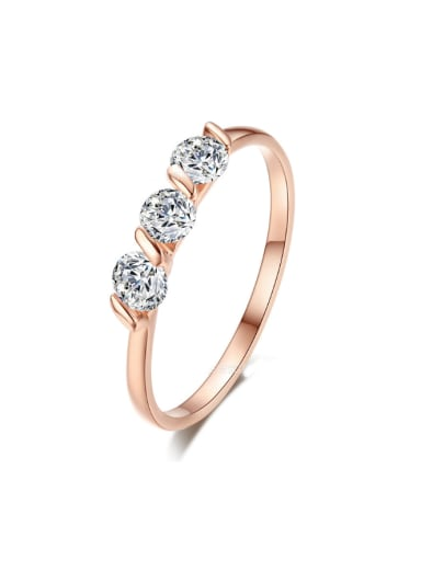 Shining Zircons Plating Daily Accessories Ring