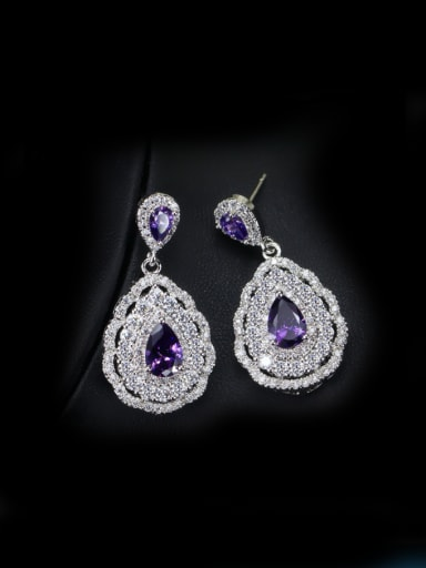 Wedding Fashionable Water Drop Cluster earring