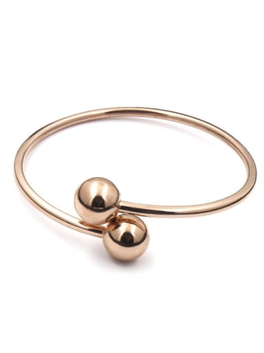Simple Double Balls Shaped Opening Bangle